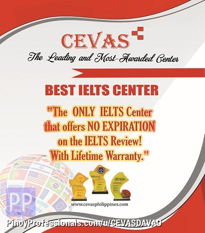 Education - CEVAS Best IELTS Review Center in Davao Tagum Digos Cagayan De Oro Lais Butuan Pagadian Ozamis Iligan Cotabato Mindanao