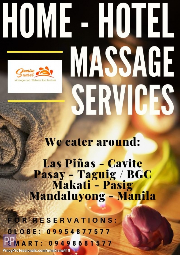 Beauty and Spas - Outdoor home service massage