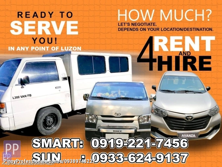 Car Rental - L300 VAN FB FOR RENT AND FOR HIRE IN ANY POINT OF LUZON