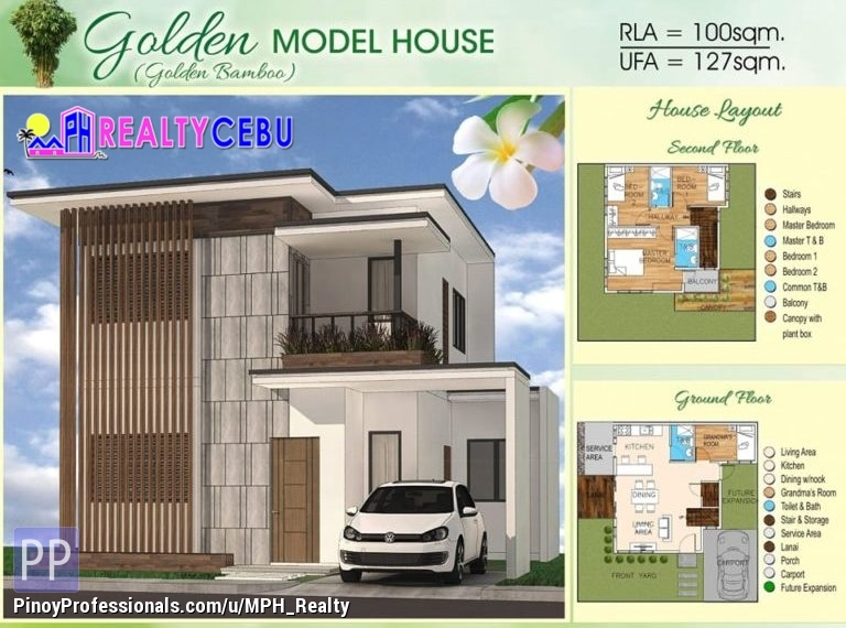 House for Sale - GOLDEN MODEL - 4BR HOUSE IN BAMBOO BAY RES. CATARMAN LILOAN CEBU