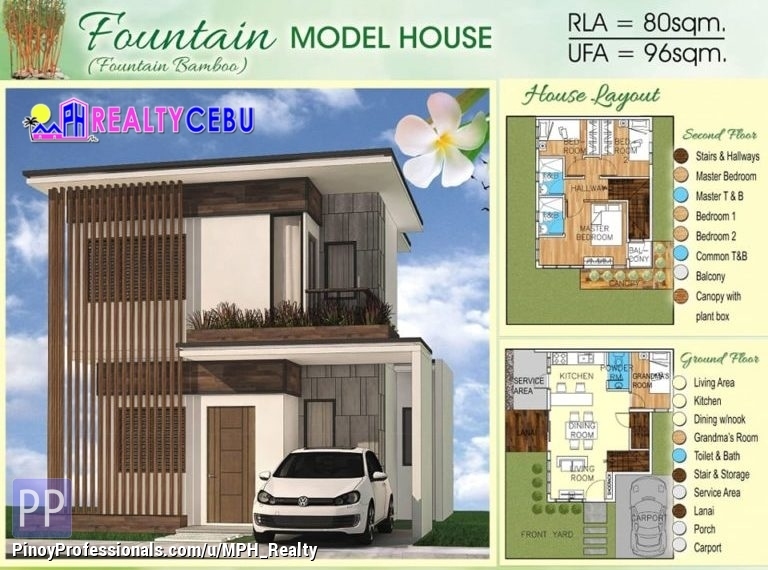 House for Sale - FOUNTAIN MODEL - 4BR HOUSE IN BAMBOO BAY RES. CATARMAN LILOAN CEBU