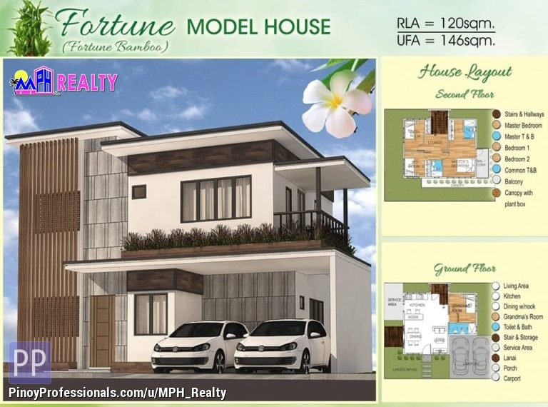 House for Sale - FORTUNE MODEL - 4BR HOUSE IN BAMBOO BAY RES. CATARMAN LILOAN CEBU