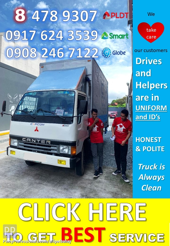 Moving Services - Lipat bahay trucking services truck for rent