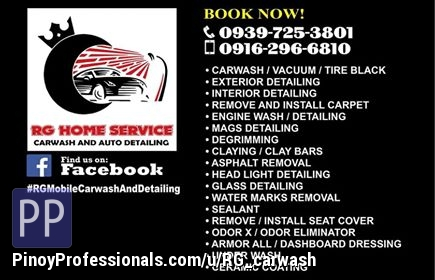 Automotive Services - RG Homeservice Carwash and Auto-Detailing