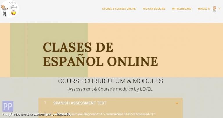 Education - SPANISH Class- CLASES DE ESPAÑOL On Line