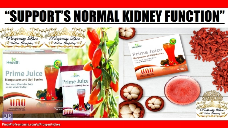 Health and Beauty - SUPPORTS NORMAL KIDNEY FUNCTION - PRIME JUICE MANGOSTEEN AND GOJI BERRIES
