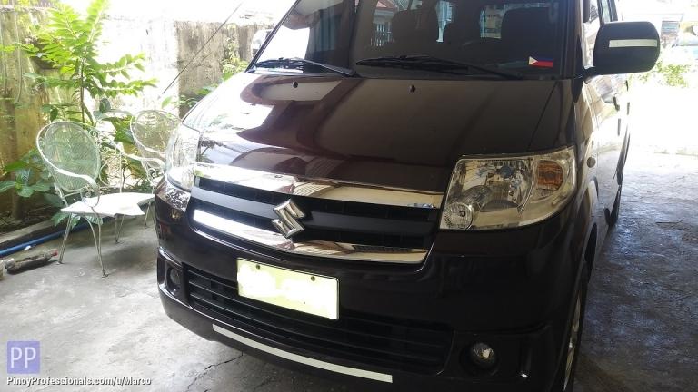 Car Rental - Suzuki APV for rent with driver.