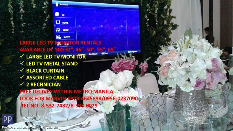 Event Planners - Large LED TV rentals in Metro Manila Philippines