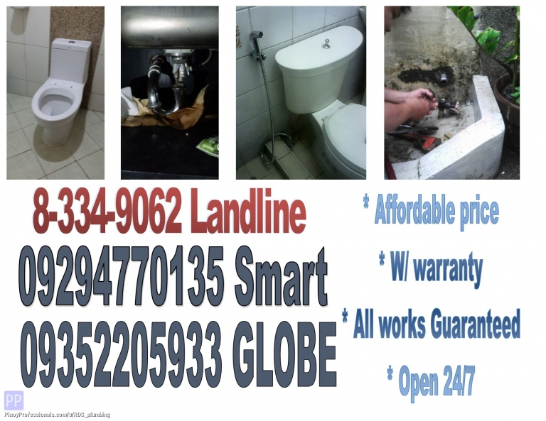 Business and Professional Services - makati city plumbing tubero declogging painting watertank