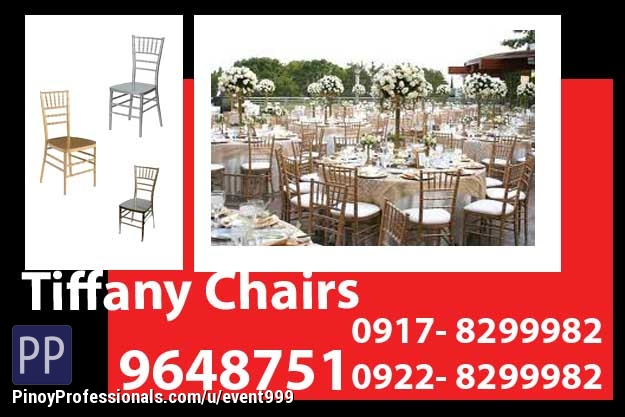 Event Planners - Tiffany Chairs Rent Hire Manila Philippines