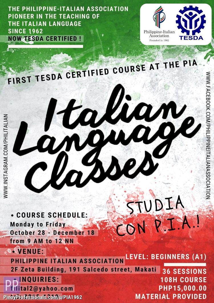 Education - Intensive Italian Language A1 Beginners (TESDA Certified)