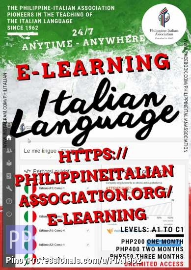 Education - Italian E-Learning Program