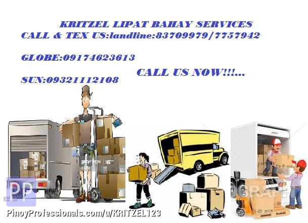 Moving Services - KRITZEL TRUCKING SERVICE (LIPAT BAHAY)