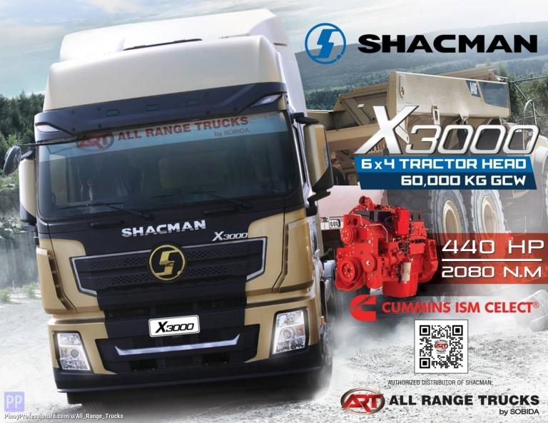 Trucks for Sale - Shacman X3000 Tractor Head 6x4 Prime Mover SX42564W324C 10 wheeler