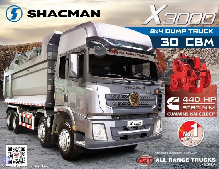 Trucks for Sale - Shacman X3000 Dump Truck Tipper 8x4 12 wheeler SX33164W366C