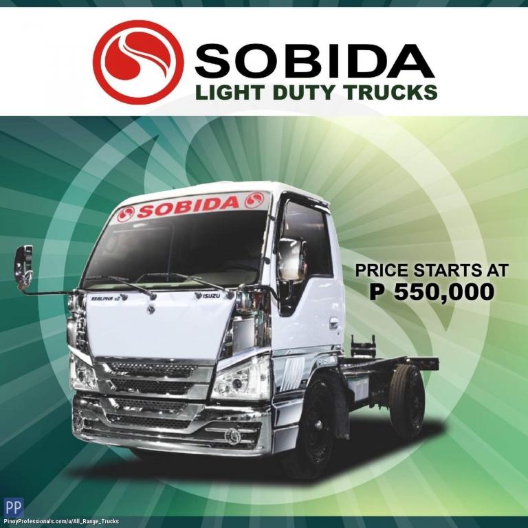 Trucks for Sale - Sobida Isuzu Light Duty Trucks Elf Canter Hino cab and chassis truck