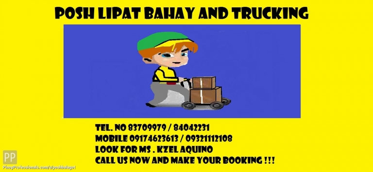Moving Services - POSH L;IPAT BAHAY AND TRUCKING SERVICE'S