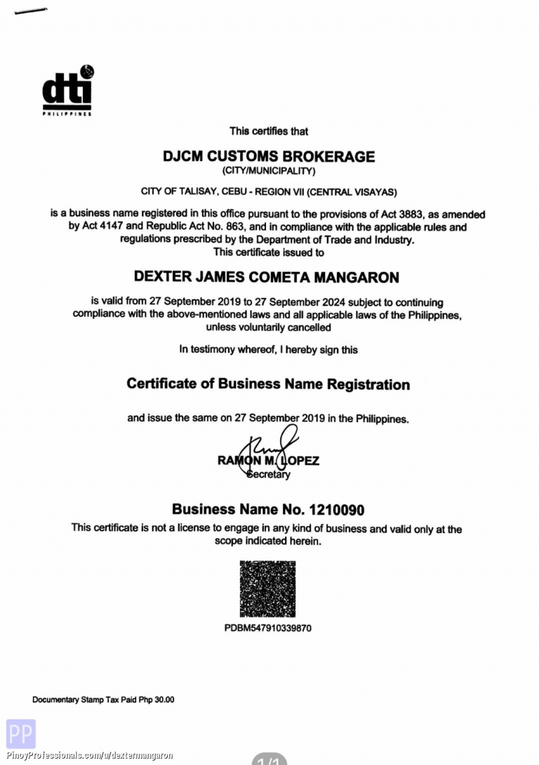Business and Professional Services - DJCM CUSTOMS BROKERAGE