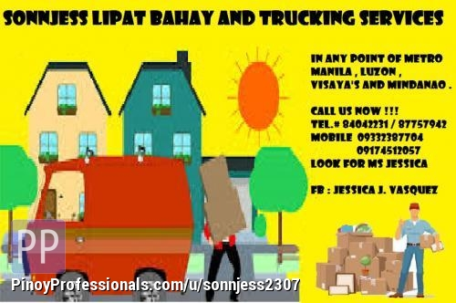 Moving Services - SONNJESS LIPAT BAHAY AND TRUCKING SERVICES