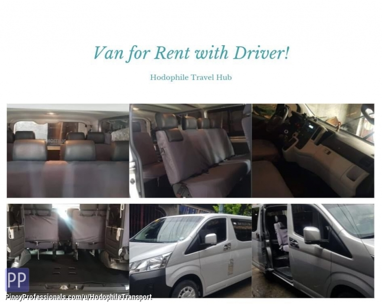Transportation Services - VAN FOR RENT DAILY & WEEKLY TOURS