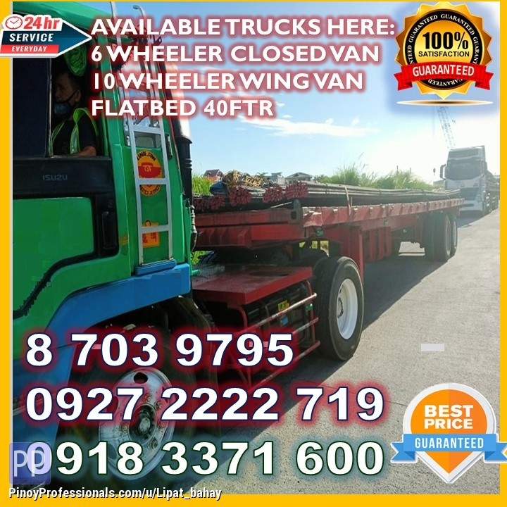 Moving Services - FLATBED 40FTR FOR RENT TRUCKING SERVICES