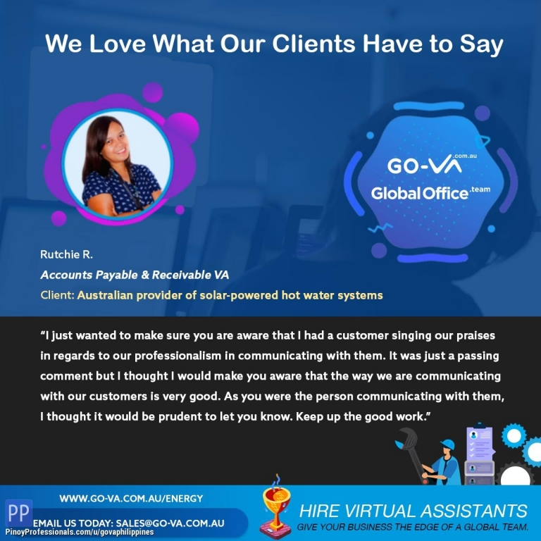 Business and Professional Services - GO Virtual Assistants (GO-VA) Services - Energy Business