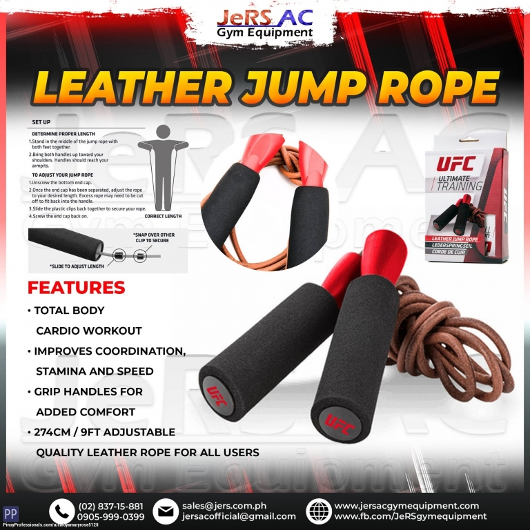 Sporting Goods - UFC LEATHER JUMP ROPE