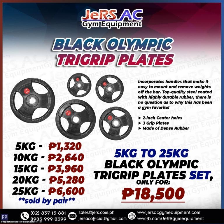 Sporting Goods - BLACK OLYMPIC TRIGRIP PLATES
