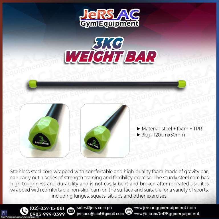 Sporting Goods - LIVEPRO 3KG WEIGHT BAR