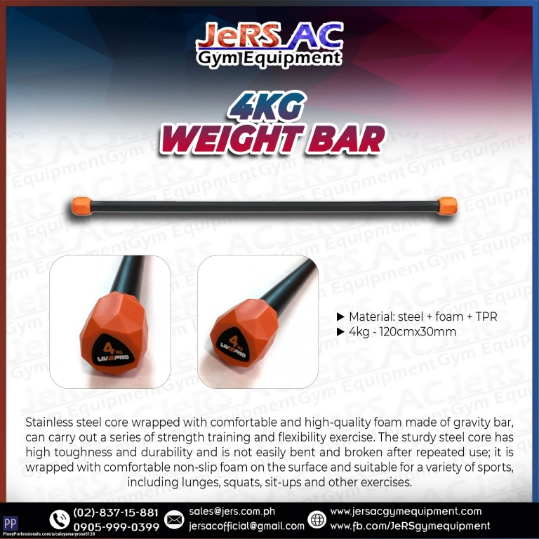 Sporting Goods - LIVEPRO 4KG WEIGHT BAR