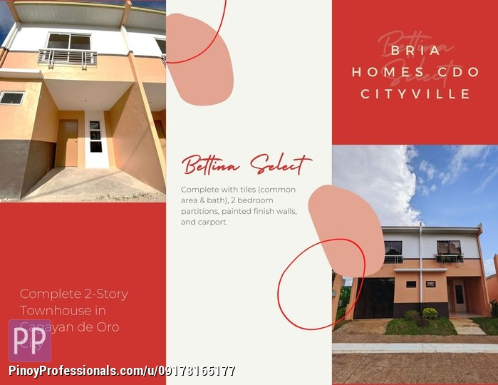 House for Sale - Complete 2-Story Townhouse in Cagayan de Oro City