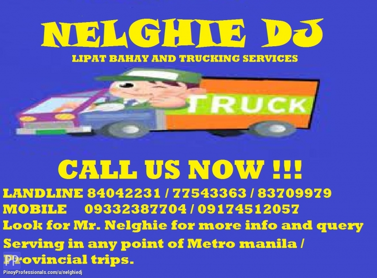 Moving Services - NELGHIE LI[AT BAHAY TRUCKING SERVICES