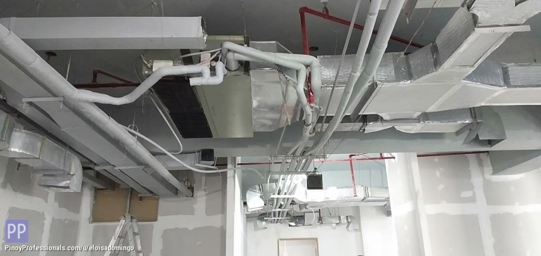 Engineers - CKE Bulacan -- Ducting Works with Fire Sprinkler System