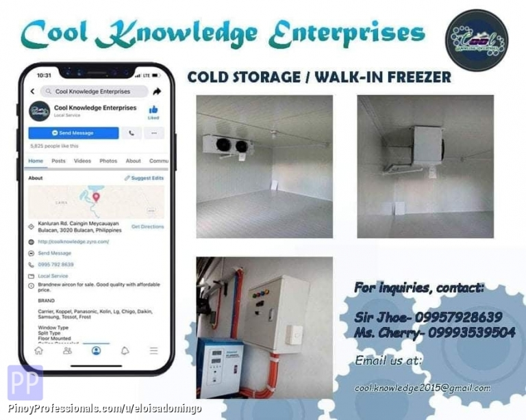 Engineers - CKE Bulacan -- We Install and Supply Walk-In Cold Storage