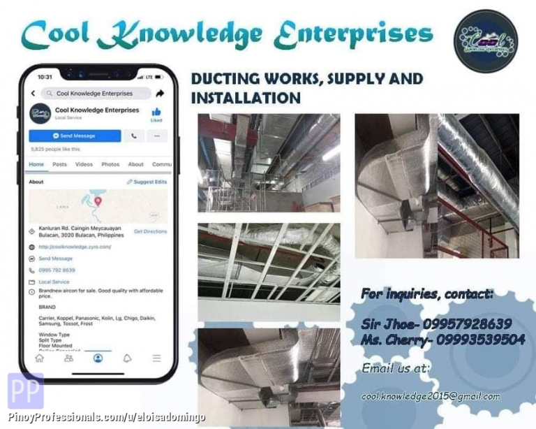 Engineers - CKE Bulacan -- We Install and Supply Ducting (Supply and Works)