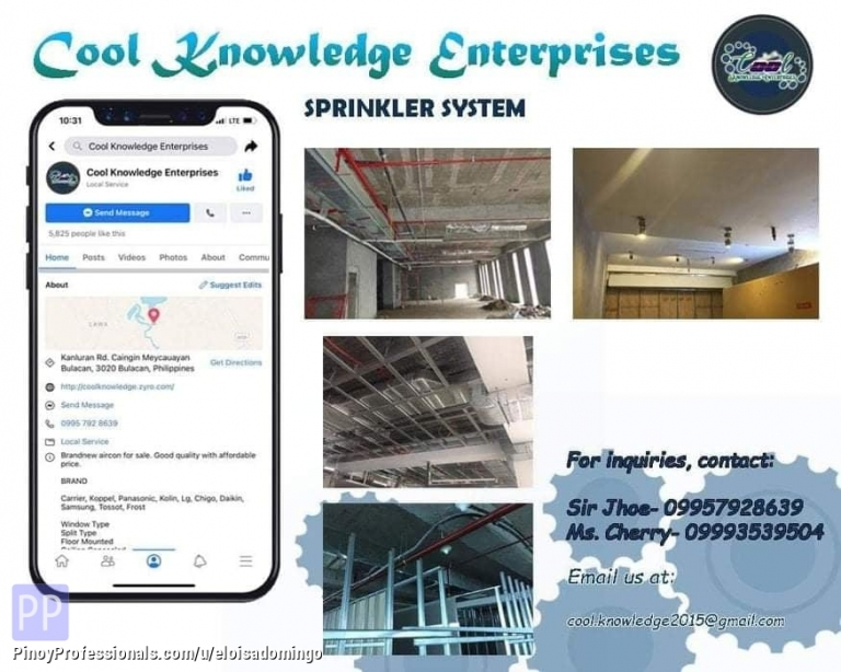 Engineers - CKE Bulacan -- We Install and Supply Fire Sprinkler System