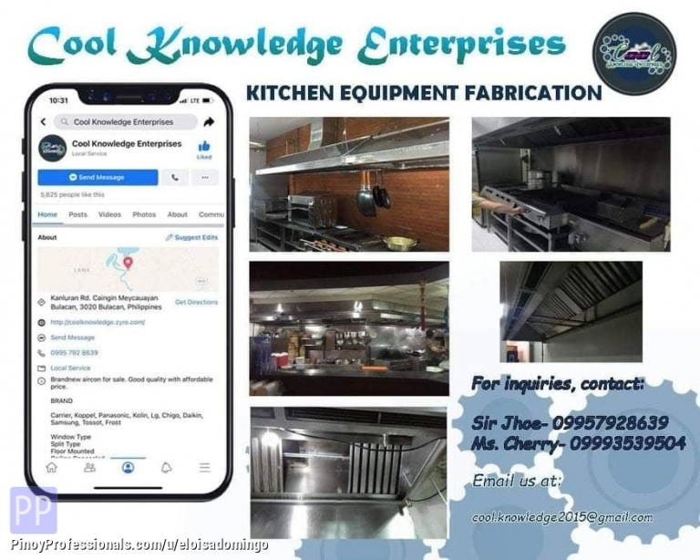 Engineers - CKE Bulacan -- We Install and Supply Kitchen Equipment Fabrication