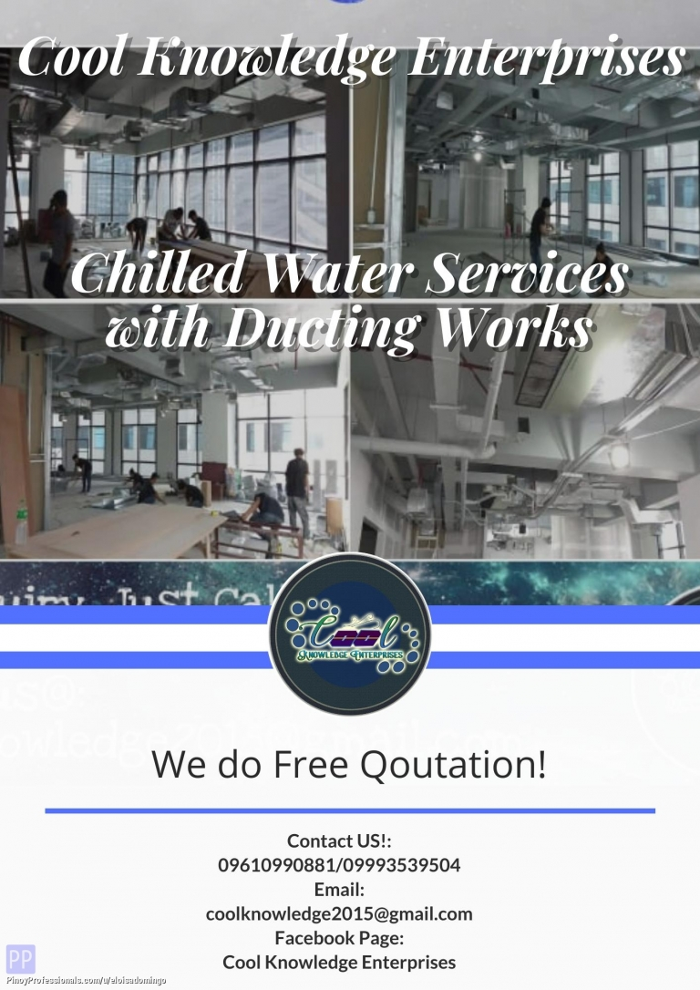 Engineers - Chilled Water System with Ducting Works Services