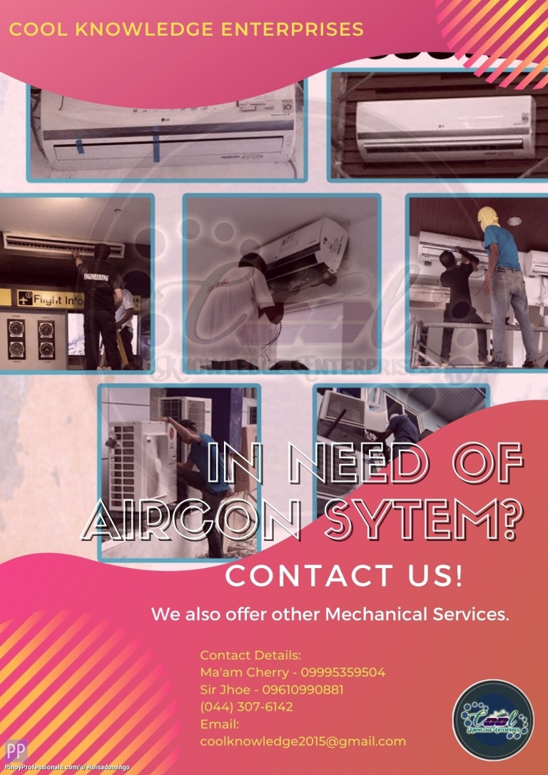 Engineers - In need of Aircon System? Contact US!