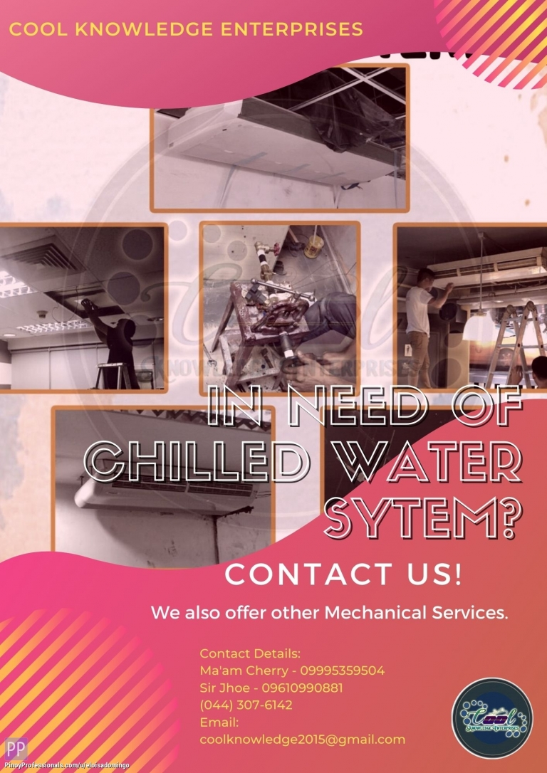 Engineers - In need of Chilled Water System? Contact US! - CKE Bulacan