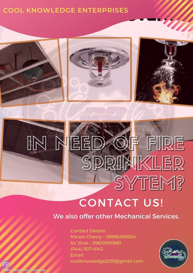 Engineers - In need of Fire Sprinkler System? Contact US! - CKE Bulacan