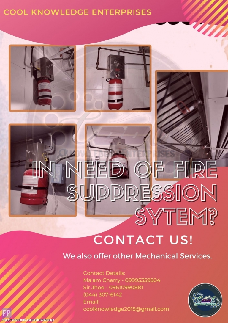 Engineers - In need of Fire Suppression System? Contact US! - CKE Bulacan