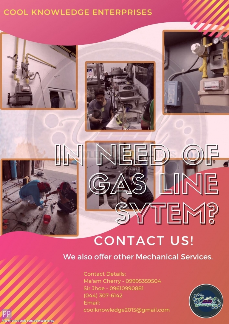 Engineers - In need of Gas Line System? Contact US! - CKE Bulacan
