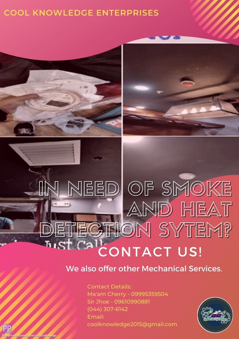Engineers - In need of Smoke and Heat Detection System? Contact US! - CKE Bulacan