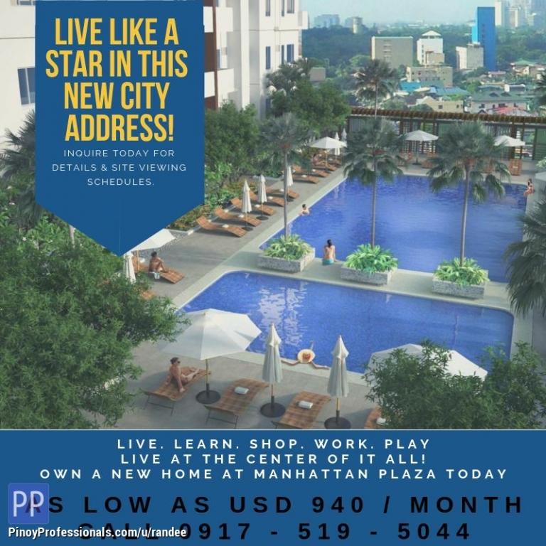 Apartment and Condo for Sale - RFO CONDO UNIT FOR SALE AT MANHATTAN GARDEN CITY. EASY RENT-TO-OWN TERMS!