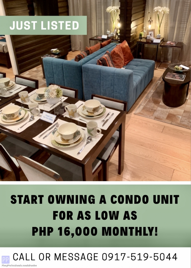 Apartment and Condo for Sale - NEW CONDO FOR SALE NEAR MRT-3 SHAW STATION AND SM MEGAMALL. NO DP, AS LOW AS 16K MONTHLY!