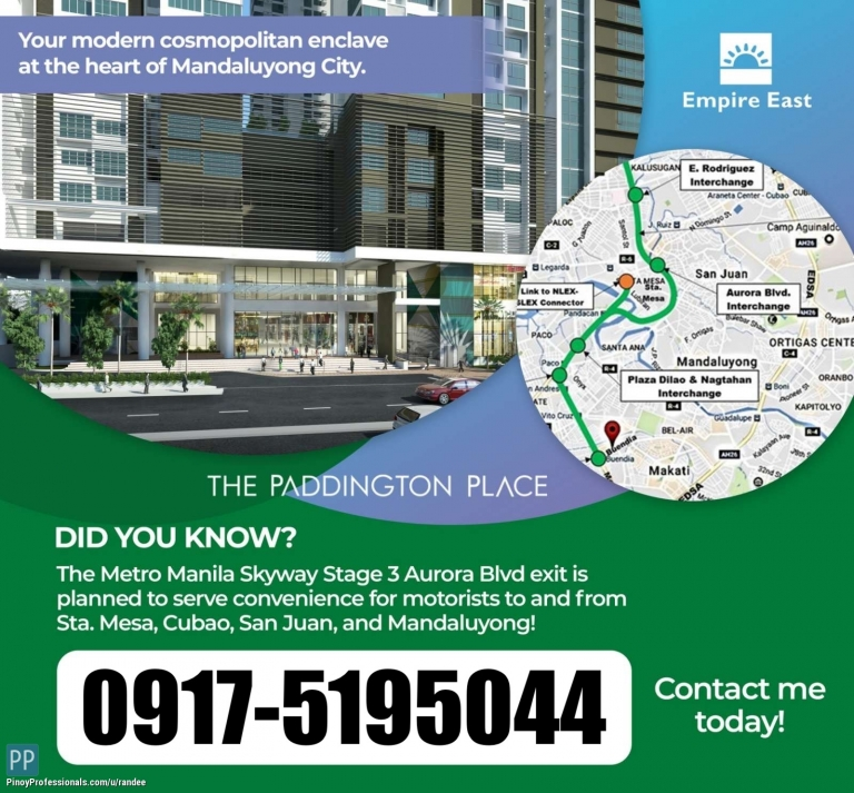 Apartment and Condo for Sale - THE PADDINGTON PLACE CONDO FOR SALE! VERY NEAR WACK-WACK AND ORTIGAS CBD! AS LOW AS 15,000 PER MONTH!