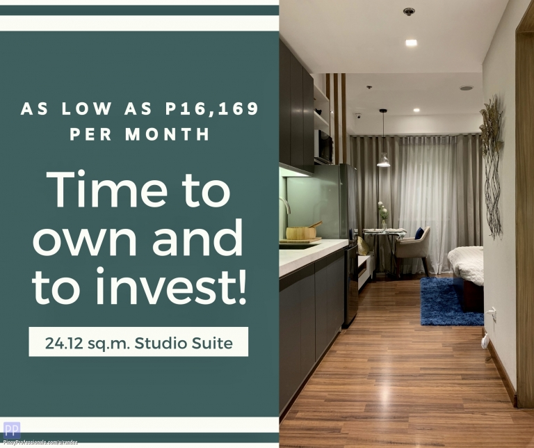 Apartment and Condo for Sale - STUDIO CONDO UNIT FOR SALE IN SHAW BLVD., MANDALUYONG WALKING DISTANCE TO ORTIGAS CBD AND MRT-3 STATIONS. NO DP! LOW MONTHLY OFFER!