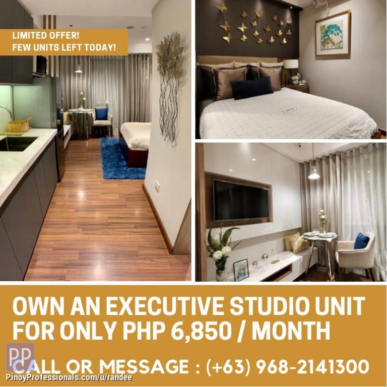 Apartment and Condo for Sale - OWN A CONDO UNIT IN MANDALUYONG NEAR MRT AND ORTIGAS CBD FOR AS LOW AS PHP 6,850 PER MONTH! LIMITED OFFER ONLY!