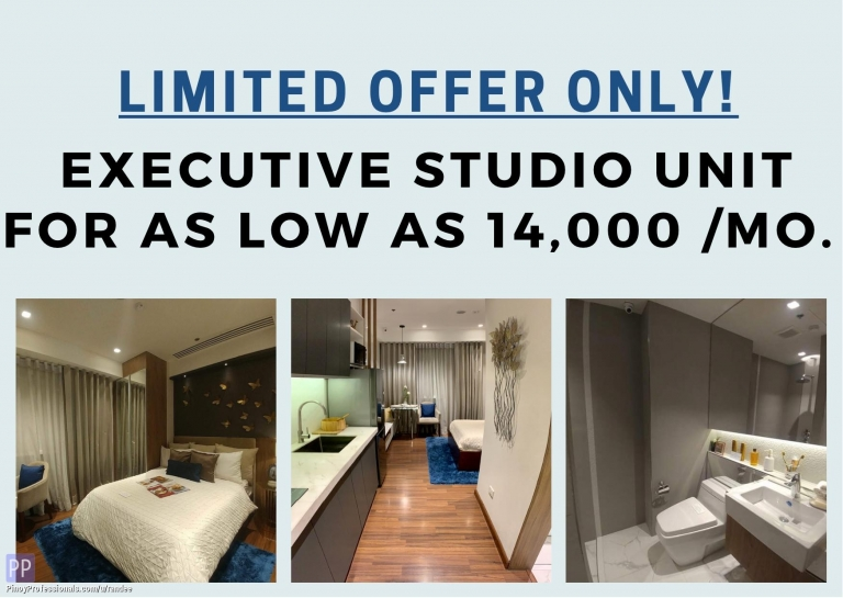 Apartment and Condo for Sale - OWN STUDIO CONDO UNIT AT PADDINGTON PLACE IN MANDALUYONG FOR AS LOW AS 14K / MONTH! AVAIL OF OUR NO SPOT DP PROMO!